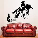 (100 x 83 cm) Banksy vinilo etiqueta de la pared