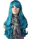 Moda pelucas de Cosplay naturales tapa de alta calidad a