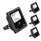 LE Foco proyector LED 3400026-DW para exteriores, 10W=100W halógeno, blanco