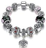 SaySure-925-Pulsera de plata Fit pulseras pulseras, Mujer, 19 CM
