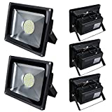 Pack of 5,Luz 50W SMD Foco LED Proyector de exterior
