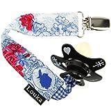 louka Chupete banda con nombres medallón cadena para chupete plástico,