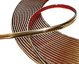 AERZETIX: 8mm 4.5m Tira adhesiva para decoracion color oro para