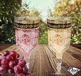 100 Lujo desechable 100 vasos de vino Champagne - Royal