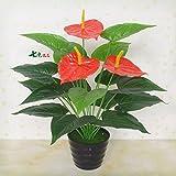 Flores artificiales ShiQi verdadero toque falso piso Salón Verde Flower