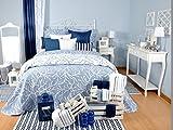 Tiendas Mi Casa - COLCHA REVERSIBLE CORAL Azul, disponible en