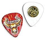 Taurus Zodiac Star Sign Logo Guitarra Pick Badge Placa (GD)
