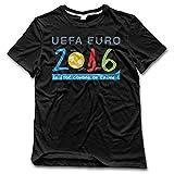 xj-cool Bienvenido Euro 2016Francia Tees de hombre Athletic negro