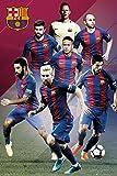 empireposter 748751de fútbol FC Barcelona-Players 16/17Póster, papel, multicolor, 91,5x 61x