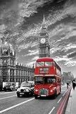Londres Autobús Rojo. Es un Maxi Poster PLASTIFICADO que muestra