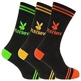 Playboy - Calcetines casuales oficiales Diseño Logo Hombre caballero (Pack