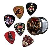 Slayer Set of 6 Loose Púa Para Guitarra in Tin