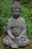 Meditando Buda fundido piedra adorno de jardín/estatua/escultura