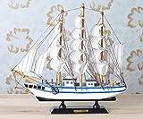Lx.AZ.Kx Modelos de velero de madera Adornos Artesanales Muebles Decoración