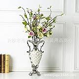El estilo europeo moderno decoracion adornos de plata floreros shell