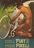 Fiat & Pirelli Biciclette c1912, Ciclismo Reproducción sobre Calidad 200gsm