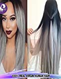 whh/3pcs/lot brasileño Virgen Pelo Extensiones de pelo liso mezcla color