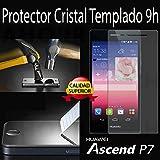 Protector pantalla cristal templado para HUAWEI P7. film templado, vidrio