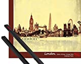 Póster + Soporte: Londres Póster Mini (50x40 cm) Collage Urbano,