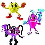 Bandai 38976 - Pac-Man Figuras Tripack Aventura: Pac, Cylindra y