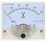 Sourcingmap - 85c1 clase 2.5 dc de precisión 0-100v voltímetro