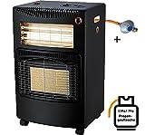 Cerámica Gas Calefacción 5,4kW Estufa gas Foco calefactor halógeno (Estufa