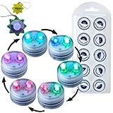 HQRP 10 impermeables de Dual LED velas de té sumergibles