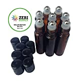 Roller Bottles with Metal Roll On Ball (Set of 8)