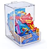 Displays2go Tabletop Candy Dispenser, 6-Inch by 8-3/4-Inch by 8-Inch, Clear
