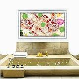 BBDM Terreno 3D pared baño cocina Living comedor decoración pegatinas