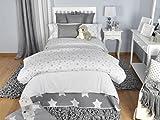 Tiendas Mi Casa - FUNDA NÓRDICA ESTRELLAS Gris, disponible en