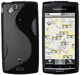 Mumbi Xperia-Arc-S-Hülle - Carcasa para Sony Ericsson Xperia Arc/ArcS, negro