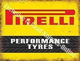 Pirelli Neumáticos Alto Rendimiento Motorsport Automovilismo Vintage Garaje Metal/Cartel Para