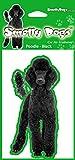 Caniche (negro) perro regalo-2x. Ideal ambientadores para el coche