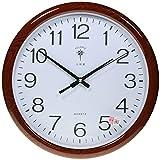 Reloj de pared analógico redondo - Esfera blanca - Movimiento