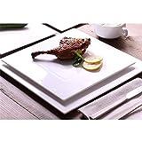 Platos de cerámica cuadrado Natural Saludable vajilla platos llanos