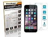 iPhone 66S Protector de pantalla, techstone Premium templado vidrio Protector