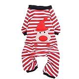 Perro de mascota abrigo de pijama de rayas pijamas mascota