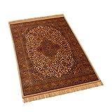 Barefoot - Alfombras Medallion, estilo persa tradicional, de viscosa, efecto