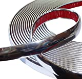 AERZETIX: Tira adhesiva para decoracion de níquel cromo para coche