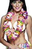 ADULT WOMENS COLOURFUL HAWAIIAN LEI SMIFFYS FANCY DRESS COSTUME -