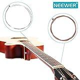 Neewer® NW-A203 Guitarra Acústica Cuerdas Set: Plancha de Acero Ligero.012.016,
