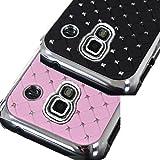 2x Negro & Baby Rosa Diamante Gem funda para Samsung