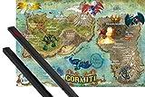 Póster + Soporte: Gormiti Póster (91x61 cm) Map Of Gorm