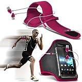 (Hot Pink) LG Nexus 5 Sports Running Arm Band Jogging