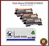 KONVER K-TN2220/K-TN2210/ K-TN2010, Pack Ahorro 3 Tóner Compatible (NON OEM)