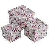 Juego 3 cajas organizador romantica roseclass cartón / papel