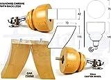 4x madera maciza muebles pies CHROME cástor patas de repuesto