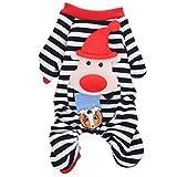 Molie Mascota perro pijama algodón rayas mono mascota pijamas caliente