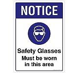 Señal de seguridad tienda Aviso Gafas de seguridad Must Be